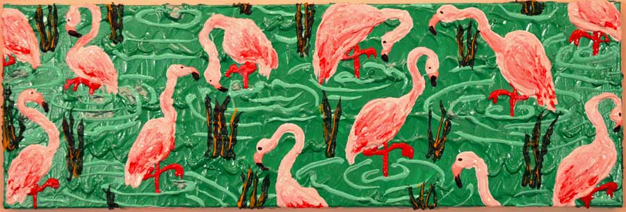 Horizontal-Flamingos