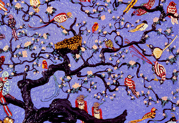 Assorted-Birds-Purple-Sky,-1978--30x40-@1200dpi